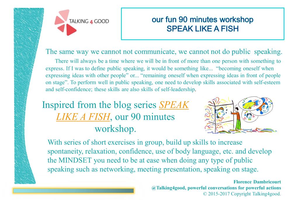 Speak like a fish workshop