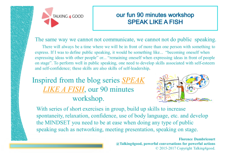 Speak like a fish workshop